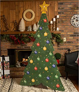 7 ft. Large Christmas Tree Standee Standup Photo Booth Prop Background Backdrop Party Decoration Decor Scene Setter Cardboard Cutout