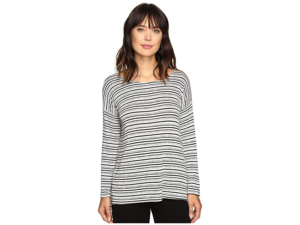 Karen Kane Drop Shoulder Hi-Low Top (Stripe) Women