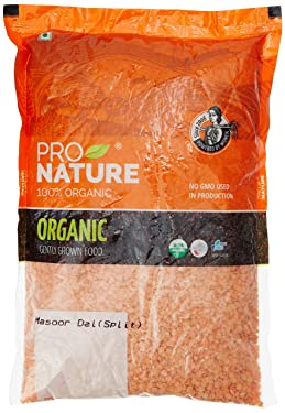 Pro Nature 100% Organic Masoor Dal, Split, 1kg