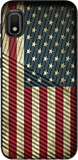 MINITURTLE Compatible with Samsung Galaxy A10e, Samsung Galaxy A20e Slim Hard Embossed Shell Grip Hybrid Case Protection - Vintage American Flag