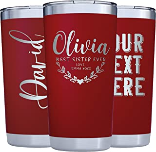 Best personalized double wall tumbler Reviews