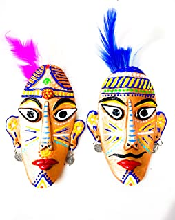 Auroshree Fridge Magnet Tribal Mask (Hand-Made)