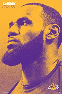 Trends International NBA Los Angeles Lakers - Lebron James Wall Poster, 22.375