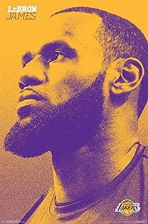 Trends International NBA Los Angeles Lakers - Lebron James Wall Poster, Multi
