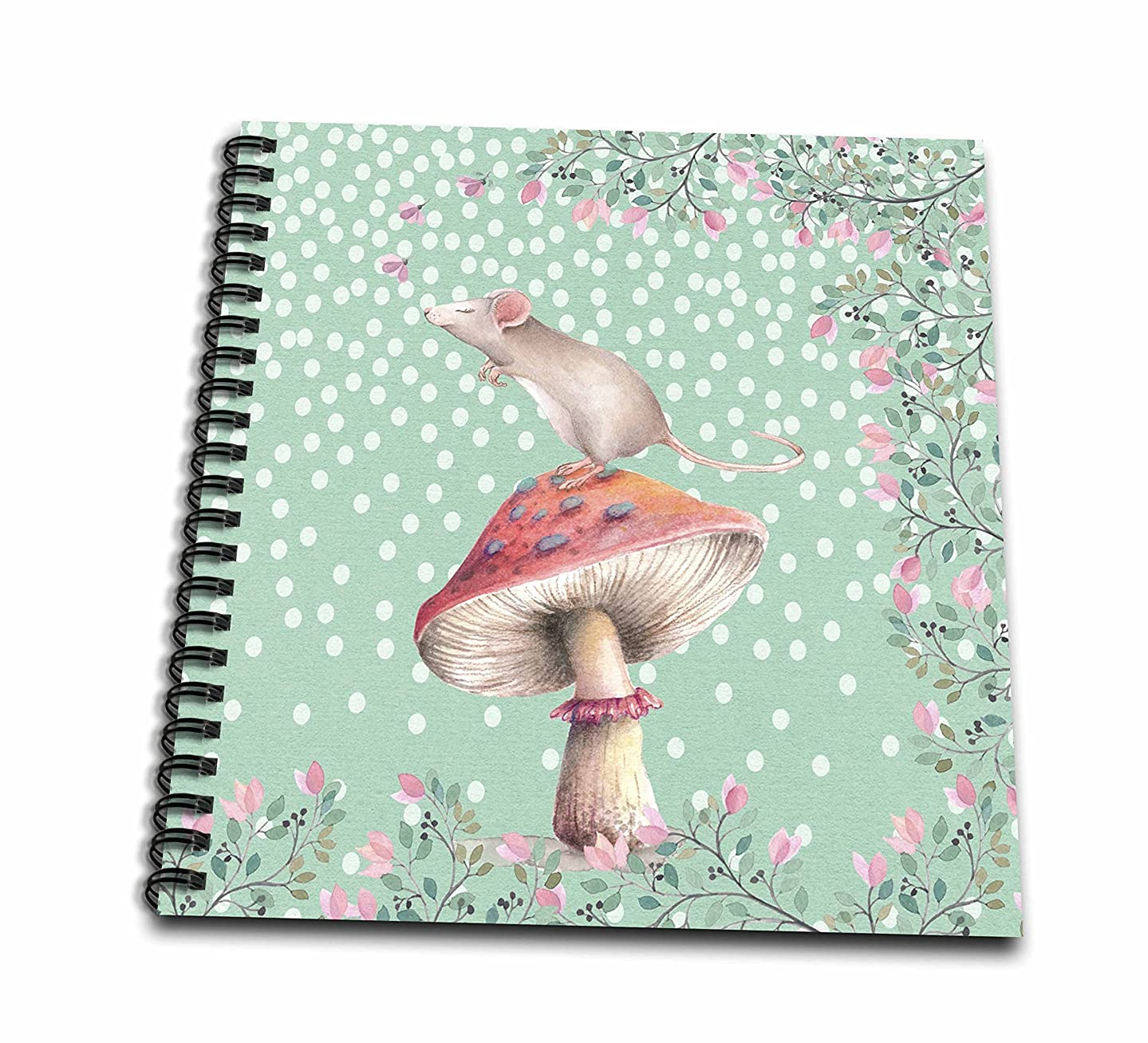 3D Rose Mouse Animal Floral Flowers Mushroom dots Illustration Drawing Book