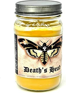 Death's Head (Silence The Lambs)-100% Soy Wax Candle. Soy Candles Burn Cleaner ~ Longer ~ Non-Toxic ~ The Original 100% Yinzer Made in USA. Gift Any Occasion
