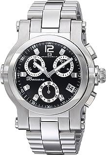 ساعة يد أوشينت للرجال من باكلوريا كوارتز مع حزام من الفولاذ المقاوم للصدأ، فضي، 21.6 (الموديل: OC0730)