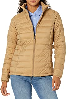 Amazon Essentials Lightweight Water-Resistant Packable Puffer Jacket Down-Outerwear-Coats Mujer