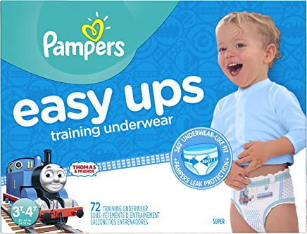 Pampers Easy Ups Training Pants Pull On Disposable Diapers for Boys Size 5 (3T-