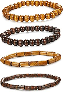 mens wooden beaded bracelets