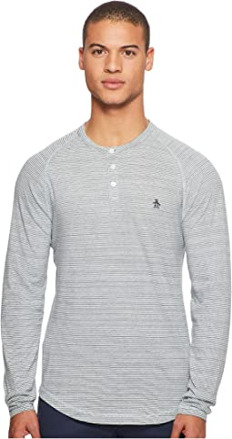 Original Penguin - Long Sleeve Feeder Auto Stripe Henley