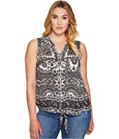 Lucky Brand Plus Size Tie Front Top