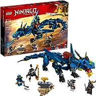 LEGO NINJAGO Masters of Spinjitzu: Stormbringer 70652 Ninja Toy Building Kit with Blue Dragon...
