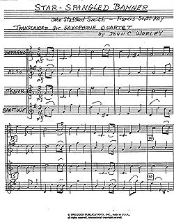 Star-Spangled Banner for Saxophone Quartet by Francis Scott Key