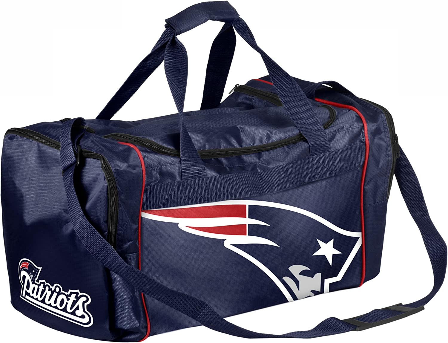 Forever Collectibles NFL New Raleigh Mall England Large-scale sale Core Patriots Bag Duffel