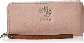GUESS Womens Large Zip Around Purse, Rosewood Multi - VG685346