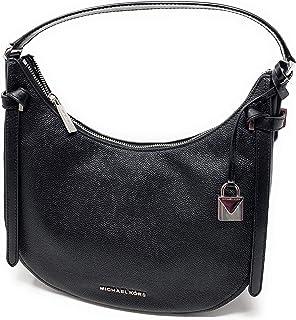 e209781c4 Michael Kors Women's Black Pebbled Leather Cassie Hobo Shoulder Bag