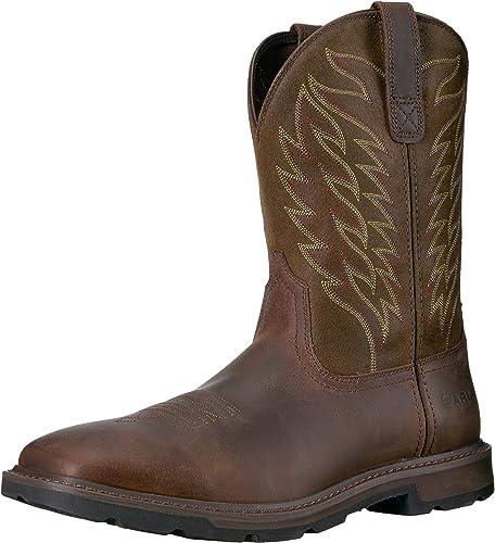 Ariat - Chaussures Chaussures de Travail Western Groundbreaker pour Hommes, 46 W EU, marron  les derniers modèles