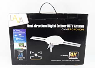 LAVA HD-8008 Omnipro/Omni-Directional HDTV Antenna with J-2012 J-Pole w/Splitter