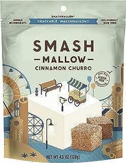 Cinnamon Churro by SMASHMALLOW | Snackable Marshmallows | Non-GMO | Organic Cane Sugar | 80 calories | (4.5 oz)