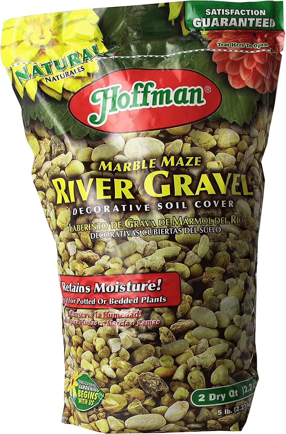 Good Earth Horticult Inc Hoffman 14202 Marble Maze River Gravel, 2 Quarts