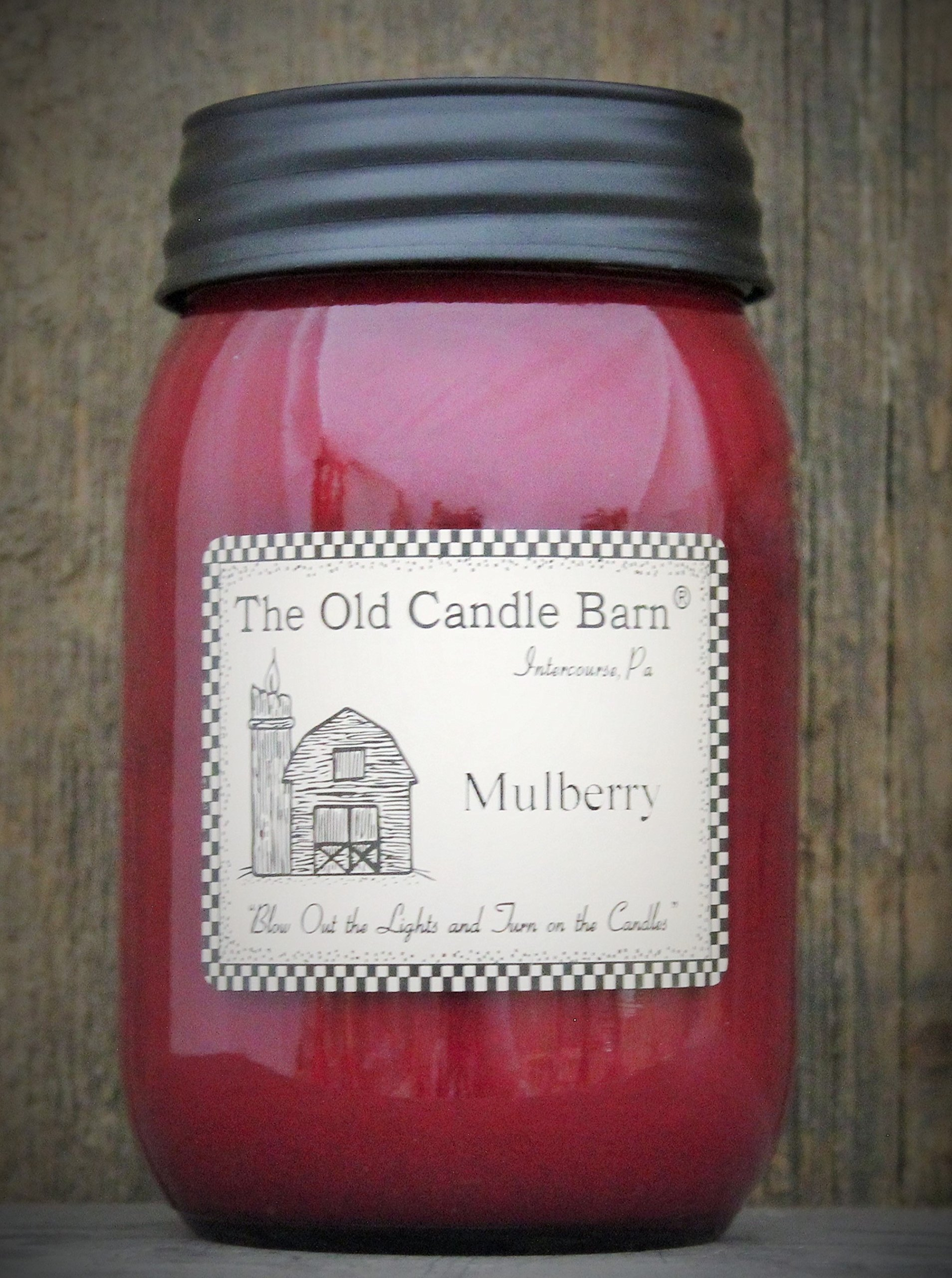 Amazon Com Mulberry 16 Oz Jar Candle Made In The Usa Blow Out The Light And Turn On The Candles Home Kitchen