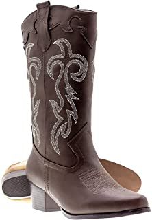 Canyon Trails Women's Classic Pointed Toe Embroidered Western Rodeo Cowboy Boots