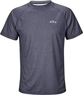 ZITY Men's Sport Quick Dry Short Sleeves T-Shirt Tees Tops Grey XL