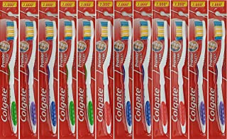 Colgate Premier Clean Bi-level Bristles Toothbrush, Firm, 12-pieces