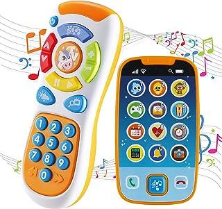 JOYIN Juguetes para smartphone para bebé, control remoto de bebé con música, juguete de aprendizaje de bebé, regalos de cumpleaños para bebés, niños, niños y niñas, regalo de día festivo