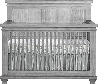 Oxford Baby Mayfield 4 in 1 Convertible Crib, Antique Silver