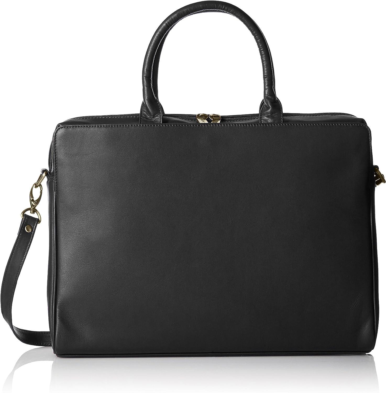 Visconti Women's Leather Top Handle One Handbag Black Fashionable Laptop S High material