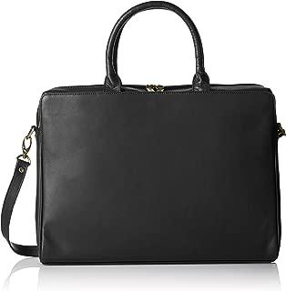 Visconti Ladies Leather Top Handle Black Handbag Briefcase Laptop Case