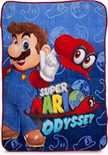 "Franco Kids Bedding Super Soft Plush Microfiber Throw, 46"" x 60"", Mario"