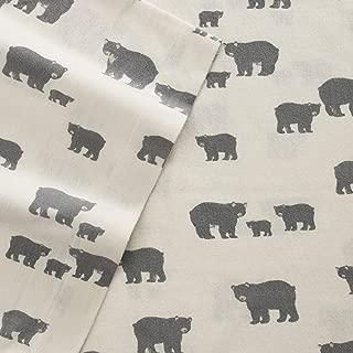 Eddie Bauer Bear Family Twin Flannel Sheet Set