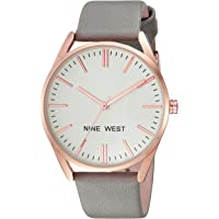 Nine West NW/1994RGGY Women's Strap Watch (Grey/Rose Gold)
