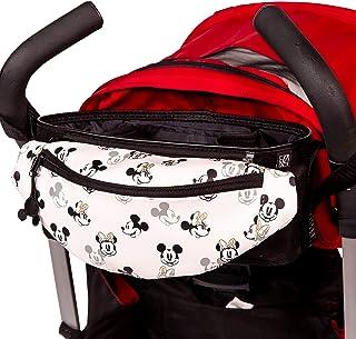 J.L. Childress Disney Baby Universal Stroller Organizer with Detachable Hip Fanny Pack, Belt Waist Bag, Mickey Minnie Ivory