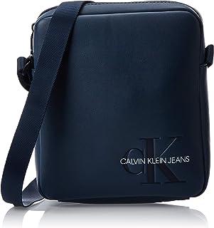 Calvin Klein - Smooth Monogram Micro Flatpack, Organizadores de bolso Hombre, Azul (Washed Blue), 1x1x1 cm (W x H L)