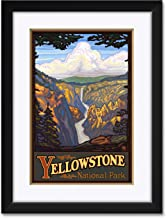 "Northwest Art Mall Yellowstone National Park Yellowstone Falls Framed & Matted Art Print by Paul A. Lanquist. Print Size: 12"" x 18"" Framed Art Size: 18"" x 24"""