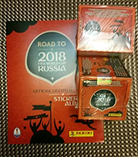 2017 Panini Road to Russia 2018 Stickers Album + 100 packs ( total of 500 stickers ) made in Brazil