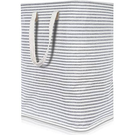 Amazon Com Foldable Closet Laundry Hamper Basket Grey Home Improvement