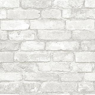 Best NuWallpaper NU3010 Grey and White Brick Peel & Stick Wallpaper Review