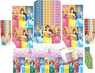 Disney Princess Dream Big Birthday Party Supplies, Complete Pack for 16 Guests, Includes Plates, Cups, and Napkins