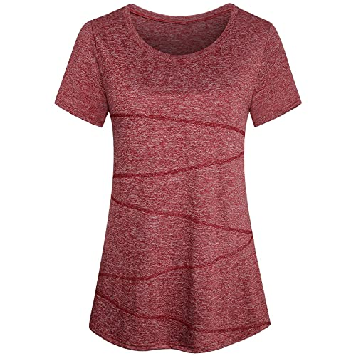 5f8bd9a337dca Red Yoga Top: Amazon.com