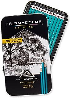 Prismacolor 24192 Premier Turquoise 石墨速写铅笔,中等铅芯,12支