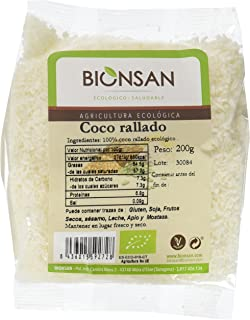 comprar comparacion Bionsan Coco Rallado Ecológico - 6 Bolsas de 200 gr - Total: 1200 gr
