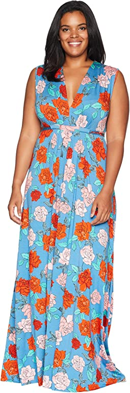 Plus Size Long Sleeveless Caftan