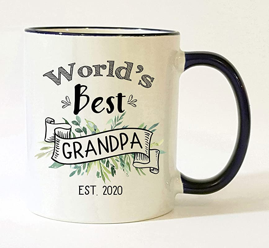 World S Best Grandpa Est 2020 Mug Pregnancy Announcement 2020 New Grandpa Mug