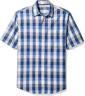 Amazon Essentials Men's Regular-fit Short-Sleeve Poplin...
