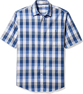 Men's Regular-Fit Short-Sleeve Casual Poplin Shirt